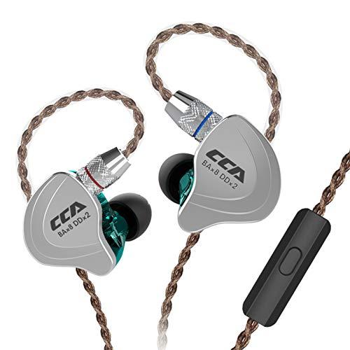 CCA C10 Auriculares in ear híbridos de cinco conductores en cada lado, HiFi 4BA 1DD...