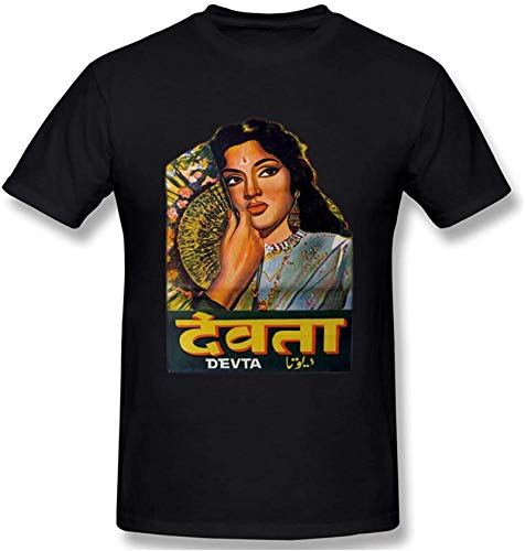 Devta 1956 Bollywood Men's Fashion Round Neck Short Sleeve T-ShirtBlack