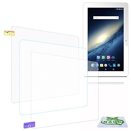 NAUC Bildschirm-Schutz-Folie Odys Rise 10 / Space 10 Schutzfolie 2X klar Universal