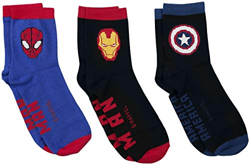 Avengers Captain America - Iron Man - Spider-Man Männer Socken Multicolor EU 39-42