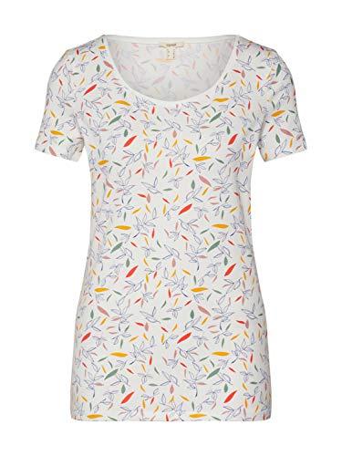 Esprit 030EE1K301 T-Shirt Damen, Weiß (110/OFF WHITE), S
