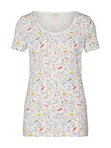 ESPRIT Damen 030EE1K301 T-Shirt, 110/OFF White, XL