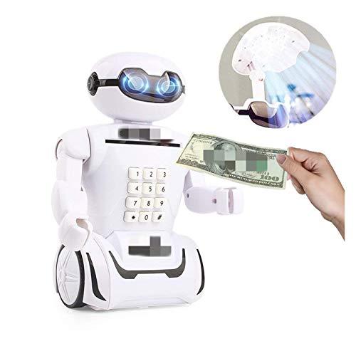 Changskj Hucha Creativa electrónico Hucha Caja Fuerte de Efectivo Caja de Robot for Ahorrar Dinero Caja de Monedas del Banco Caja de música lámpara de Escritorio for los Juguetes Infantiles