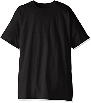 Hanes Men's Size Short-Sleeve Beefy T-Shirt (Pack of Two), Black, X-Large/Tall
