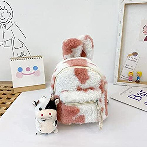 Modis Mochila infantil encantadora para niña con dos bolsillos con cremallera