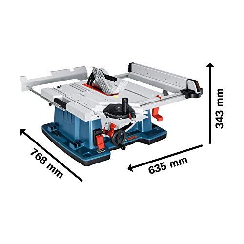 Bosch GTS 10 XC Professional Tischkreissäge, 2.100-Watt-Motor mit Motorbremse, Schnitthöhen bis 79 mm, Sägeblattdurchmesser 254 mm, Karton, 0601B30400 - 4