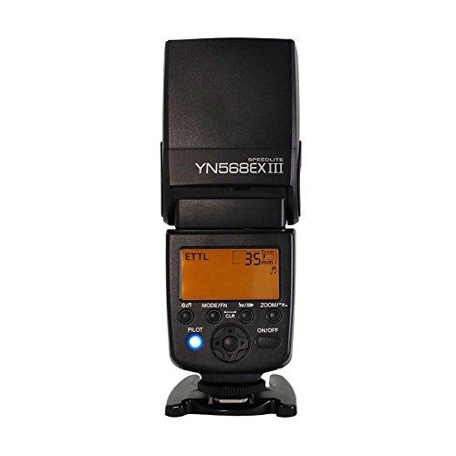 Yongnuo YN568EX III Wireless Master und TTL Flash Speedlite mit Hochgeschwindigkeits-Synchronisation für Canon DSLR Kamera
