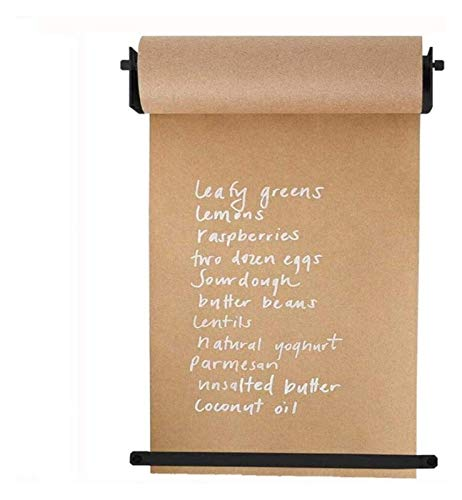 HCCHZR Ins Creative Wall Mounted Distributor with Note Roll Kraft Paper - Studio Roller Paper Wall Decor - Office Concept - Wall Hanging Paper Divider - Innovative Alternative to Whiteboard