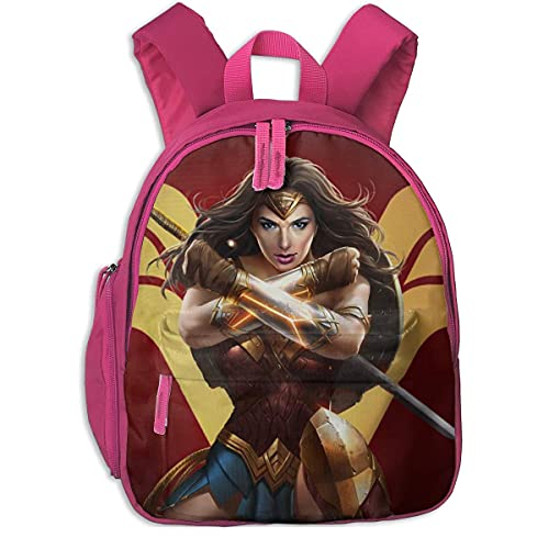 Wonder Woman, Mochilas para niños, Mochilas Escolares para niños, niñas, Mochila para Preescolar, Bonita Mochila de Dibujos Animados, tamaño para jardín de Infantes, Preescolar