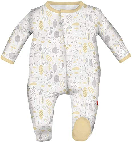 Magnetic Me Footie Pajamas Soft Modal Baby Sleepwear Quick Magnetic Fastener Sleeper Into The Woods 3-6 Months