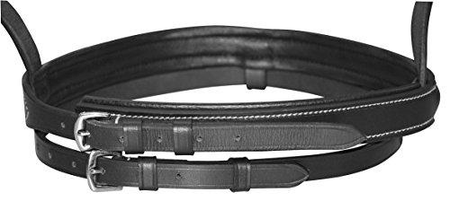 Kerbl 321178 Trensenzaum, Leder Kaltblut schwarz