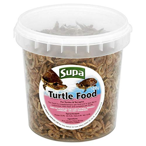 Supa Turtle & Terrapins Food Superior Mix 1 Litre Bucket | Made Using Premium Quality Natural Ingredients
