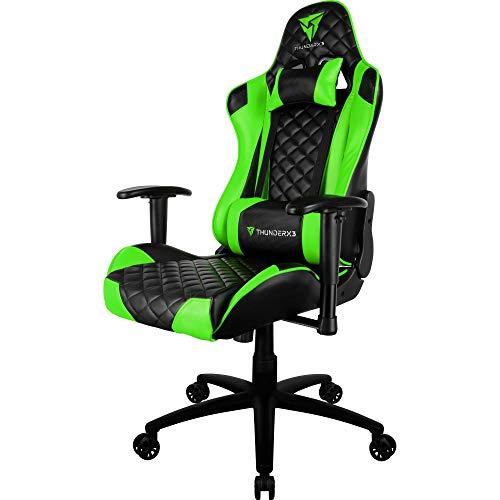 Cadeira Gamer Profissional TGC12 Preta/Verde ThunderX3.