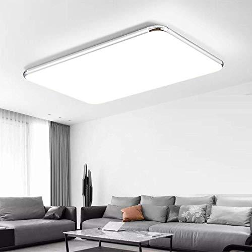 96W LED Deckenleuchte 8000Lm 6500K Kaltweiß Wasserdicht IP54 93 * 65cm LED Deckenlampe für Badezimmer Wohnzimmer Office [Energieklasse A+]
