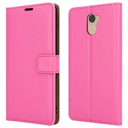 PIXFAB - Custodia a portafoglio in pelle per Wileyfox Swift 2X, colore: Rosa