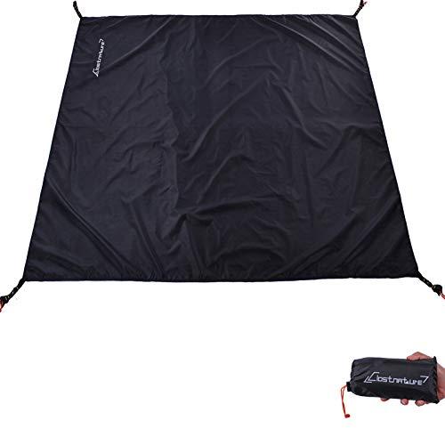 Clostnature Tent Footprint - Waterproof 2 Person Camping Tarp, Heavy Duty Tent Floor Saver, Ultralight Ground Sheet Mat for Hiking, Backpacking, Hammock, Beach - Storage Bag Included(57  x84  )