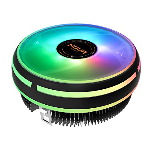 Noua Cryo RGB Dissipatore di Calore TDP 150W per CPU Intel Socket 1200 775 1150 1151 1155 1156 1366 AMD AM3 AM4 Cooler Cooling Fan PWM 700-1600RPM da 120mm RGB Rainbow Auto per Intel Core i7/i5/i3