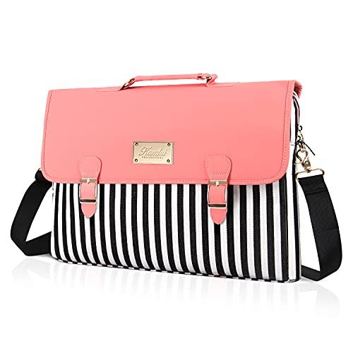 Kamlui Laptop Bag for 13 14 15.6-Inch Women PU Leather...