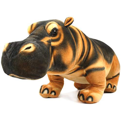 Harange The Hippo - 2 1/2 Foot Long Big Stuffed Animal Plush Giant Hippopotamus - by Tiger Tale Toys