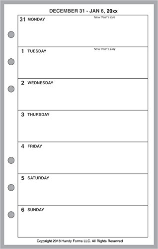 2020 Weekly & Monthly Planner for Compact Size notebooks by Franklin-Covey Compact Size, and Others. 1 Page Per Week, 2 Pages Per Month, Week Starts on Monday. Style A, Without Lines.