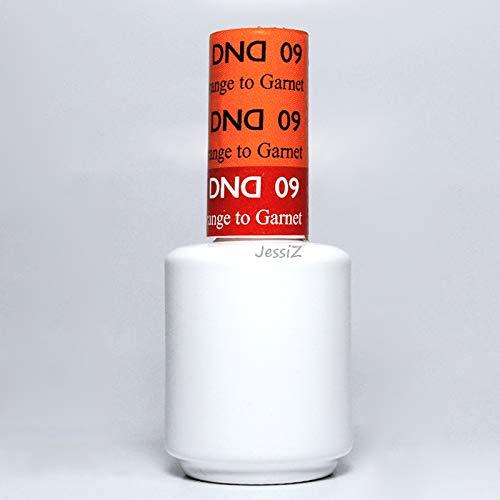 DND Daisy Soak Off Gel Mood Change - Orange to Garnet 09