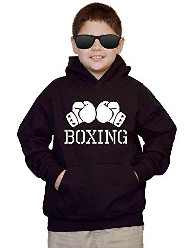 Interstate Apparel Youth Boxing Glove V434 Black Kids Sweatshirt Hoodie Large
