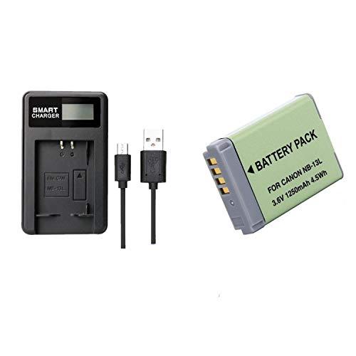 1 pcs 1250 mAh NB-13L NB13L Batterie avec LCD Chargeur de Batterie Unique pour Canon G5X / G5X Mark II / G7X / G7X Mark II / G7 X Mark III G9X SX620 HS SX720 HS Camera