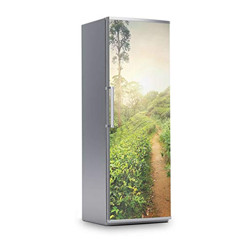 creatisto Kühlschrank Folie I Dekofolie für Kühlschranktür - Sticker Folie selbstklebend I Dekoration Küche - Design: Green Tea Fields