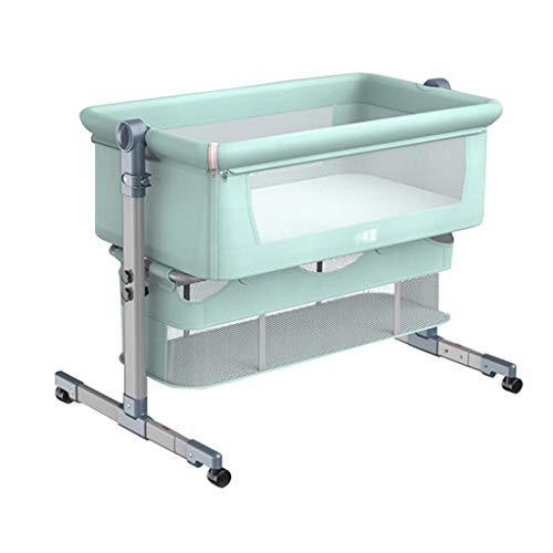 Cuna plegable para cuna de bebé, cama Queen Size portátil, para niños, color verde, tamaño: con bolsa de viaje)