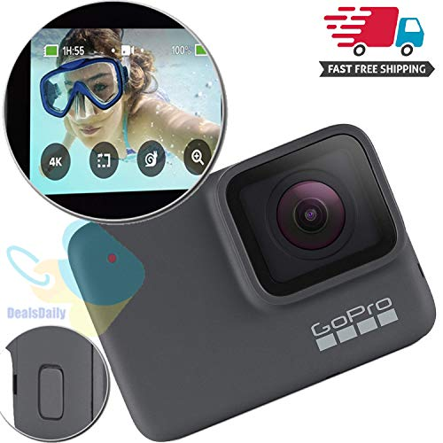 GoPro HERO7 Silver ? Waterproof Digital Action Camera with Touch Screen 4K HD Video 10MP Photos (Renewed)