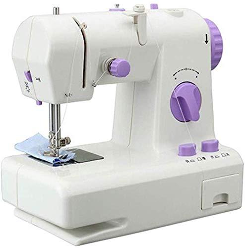 Beweegbare naaimachine, elektrische arm inrijgen naaimachine en naaimachine, te gebruiken als doek en schoenen reparatiemachine paars