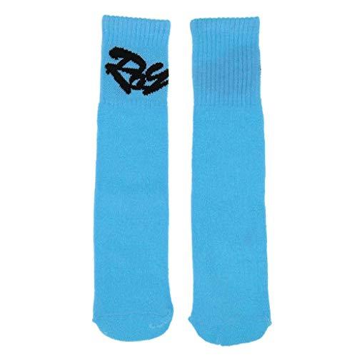 Chaussettes de sport de compression pour enfants - Pour garçons et filles - Pour roller, patin à glace, camping, randonnée, voyage, extérieur - Bleu