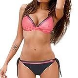 Btruely Damen Geteilter Badeanzug Push up Bikini Set Neckholder Bikinis Oberteil Mit High Tailleed Monokini Bottom Bikinioberteil Sport Zweiteiliger Strandbikini Bikinioberteil Strandmode