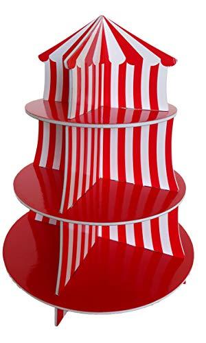 Playscene - Soporte para magdalenas (3 niveles, decoración de cumpleaños, 1 unidad)