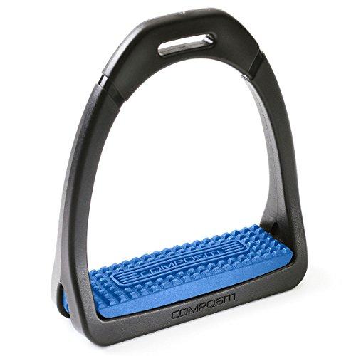 "Compositi Colored Premium Stirrup Irons - Size:4 3/4"" Color:Blue"