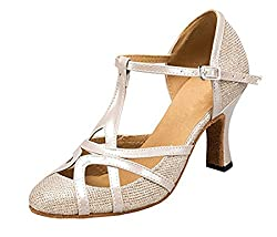 t-strap ballroom beginner dance shoes white creme