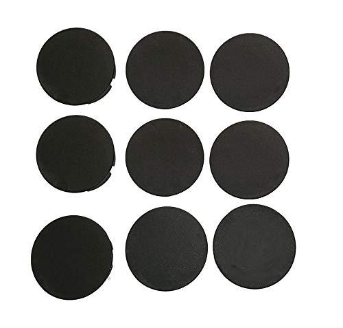 9 Stück schwarze STECKEL Staubschutz Deckel Steckdosendeckel Abdeckung für saubere Schuko-Steckdosen Steckdosenleisten Mehrfachsteckdosen Spritzschutz Design Motiv-Hotel-und Firmen-Steckel