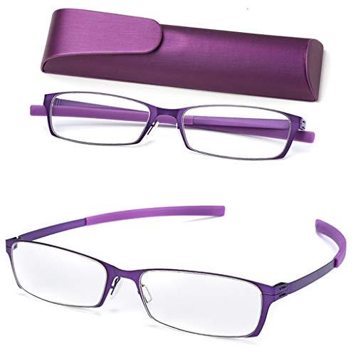 LLCC stijlvolle Hd draagbare anti-blauwe leesbril, lichtgewicht en flexibel, comfortabel en zacht, duurzaam, unisex.