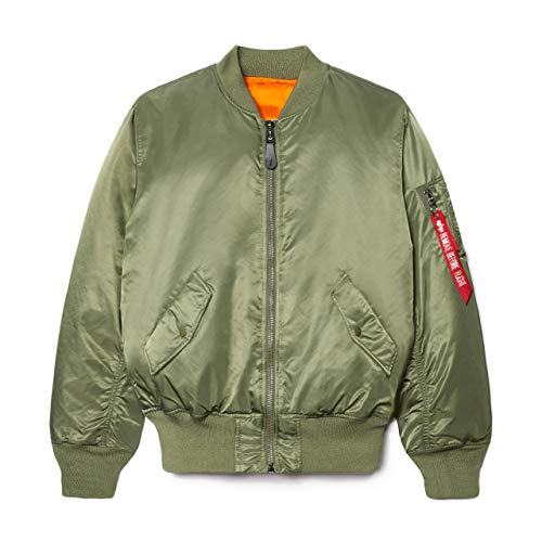 Alpha Industries Men's MA-1 Flight Jacket (LT, Sage)