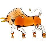Xin Hai Yuan The Wine Savant Charging Bull Liquor Decanter Made for Bourbon Whiskey Scotch Rum or Tequila 1000ml