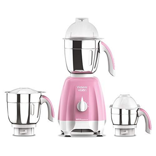 Vidiem 650W Mixer Grinder with 3 Jars, Pink
