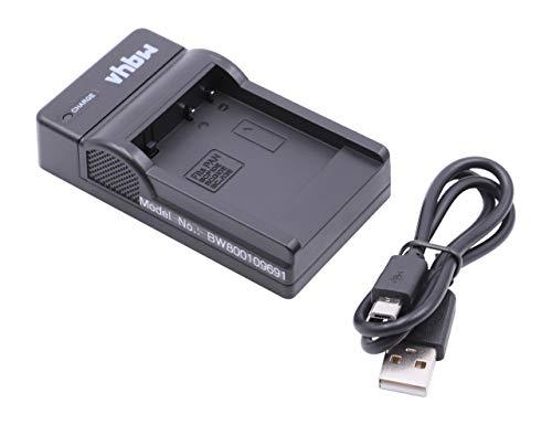 vhbw USB Akkuladegerät kompatibel mit Panasonic Lumix DMC-LX5, DMC-LX7, DMC-TZ10, DMC-TZ18, DMC-TZ20, DMC-TZ22 Digitalkamera, Camcorder - Ladeschale