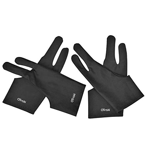 OTraki 4 Pack Artist Gloves for Drawing Tablet Free Size Artist's Drawing Glove with Two Fingers for Graphics Pad Painting Good for Right Hand or Left Hand - 2.95 x 7.87 inch