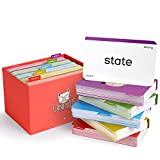 GAMENOTE 520 Sight Words Flash Cards with Card Folders & Storage Box - Dolch Fry High Frequency Site Word Educational Card Games for Pre-k Kindergarten