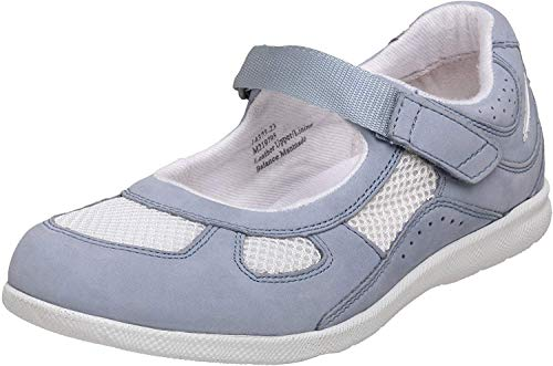 Drew Shoe Women's Delite Mary Jane,Sky Blue/White,5 M US
