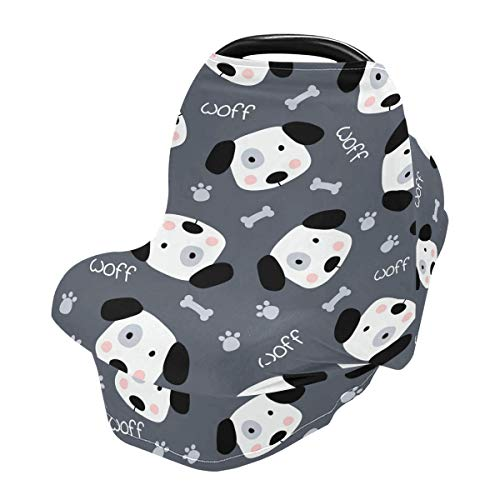 Funda de lactancia materna, funda para asiento de coche con cara de perro para bebés y bebés, cubierta para cochecito, toldo para asiento de coche para niños y niñas