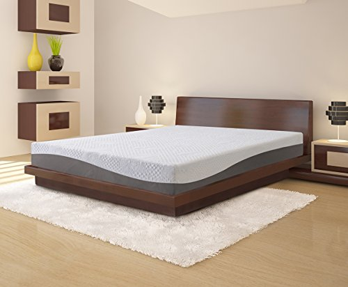 Olee Sleep 10 in Aquarius Memory  Foam Mattress Queen 10FM02Q