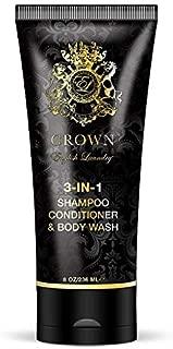 English Laundry Crown Cologne 3-in-1 Shampoo, Conditioner, Body Wash, 6.8 Oz.