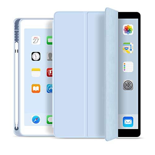 Capa Novo iPad 7a e 8a Geração 10.2″ WB Premium Slim Antichoque com Compart. para Pencil Azul Claro
