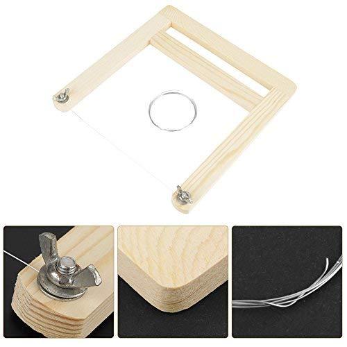 Draadzeepsnijder schaaf houten handvat zaag handwerk gereedschap voor kaarswas laib kaas